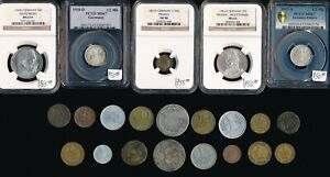 22 OLD GERMAN COINS (1684-1969) COLLECTIBLES > SEE IMAGES > NO RESERVE