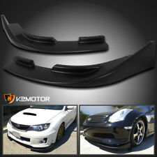 Front Polypropylene Lip Canards Flipper Flat Black Splitters Body Kit Left+Right