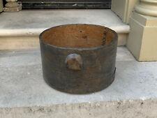 American Shaker 18th 19th Century Georgian oak grain measure applied handles