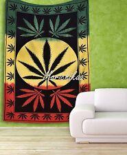 Marijuana Tapestry Cannabis Hemp Leaf Wall Hanging Psychedelic Dorm Decor Gypsy
