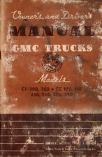 1942 GMC Truck Original Owners Manual 42 GMC Drivers and Operators Instructions