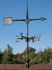 Spear & Arrow Weathervane Garden or Rooftop-Antique, lightning rod with finial