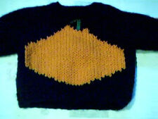 Halloween Pumpkin Sweater Handmade for 18 inch American Girl Doll Made in USA