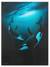 "WYLAND ""ANCIENT ORCA DANCE""   S/N LITHOGRAPH WITH COA"