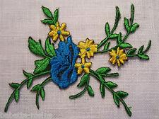 ÉCUSSON PATCH - Bouquet de Fleurs ** 9 x 8 cm ** applique thermocollante