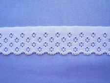 38mm White Flat Lace Edging ( x 4 metres)