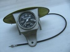 Racing Speedometer & Number Plate Harley Davidson BSA Triumph Honda Vincent ???