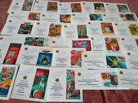 "Wholesale! ""Russian Space"" 30 different Author's proof stamps  (specimen) Rare!"