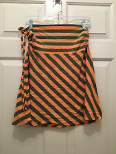NWT Patagonia Women's Lithia Convertible Striped Skirt Peach Green Medium