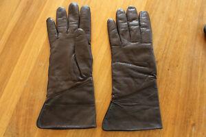 Roeckl Damen Lederhandschuhe Handschuhe Fingerhandschuh gefüttert Größe 8