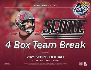 WASHINGTON FOOTBALL TEAM 2021 SCORE Football (4 Box) TEAM Break #3