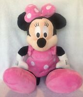 "Minnie Mouse Plush Large Disney Doll Toy 25"" Stuffed Pink Polka Dots"