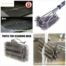 "Alpha Grillers 18"" Grill Brush. Best Bbq Cleaner. Safe for All Grills. Durable"