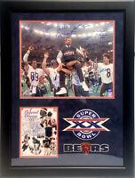 1985 Chicago Bears Team Signed 16x20 Super Bowl Photo 31 Autos Payton Framed