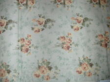 "Two JCPenney Vintage Look Floral Print Cotton Window Valances - 84"" x 16"""