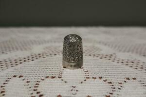 Antique Sterling Silver Thimble - English - Hallmarked - Collectable - Gc - 7g
