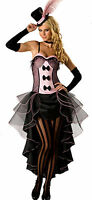 Moulin Rouge Burlesque Fancy Dress Costume Can Can Girl