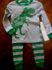 "Toddler Boys 2pc Pajamas, 2T, Long Sleeves/Long Pants, Snug Fit, ""Sleepasaurus"""