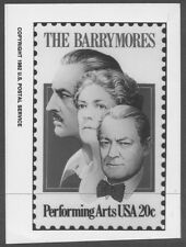 #2012 20c Barrymores Stamp Publicity Photo Essay