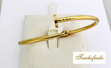 14K Yellow Gold High Polished Nail Cuff Bracelet 6.4 Grams