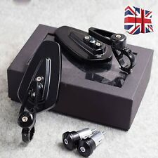 7/8'' Motorcycle Bar End Rear View Side Rearview Mirrors Universal Black 1 Pair