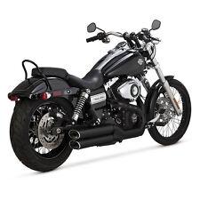 Vance & HINES Twin Slash slip-Ons negro para Harley-Davidson FXDF/WG 08-15 TÜV!