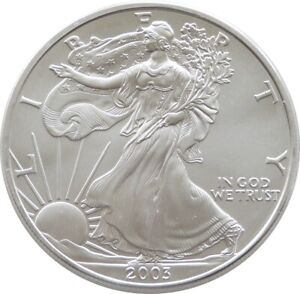 2003 American Liberty Eagle $1 One Dollar Fine .999 Silver 1oz Coin