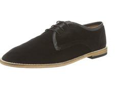 H by Hudson Para Hombres Zapatos De Gamuza Hayane Derby Negro Talla-UK 11 EU 45 RRP - £ 125.00