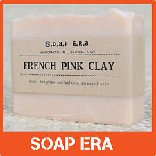 1x French Pink Clay handmade Soap -help tone, brighten and balance stressed skin
