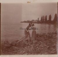 Viaggio IN Italia Modalità Cappello Foto Amateur Vintage Citrato Ca 1900 #18