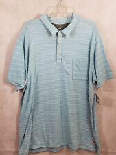 NWT TOMMY BAHAMA Men's XXL Blue & White Striped Mix A Lot Polo Shirt READ