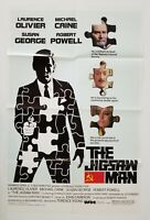 Vintage 1984 THE JIGSAW MAN One Sheet Poster LAURENCE OLIVIER MICHAEL CAINE SPY