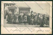 Palermo Costumi Siciliani Contadine Siculo Albanesi cartolina QQ0850