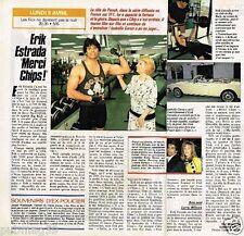 Coupure de presse Clipping 1990 (1 page 1/2) Erik Estrada