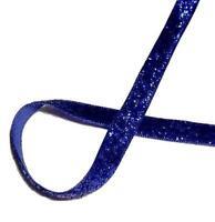 "5 yards Royal blue 3/8"" GLITTER ribbon by the yard DIY hair bows"
