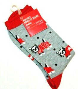 Ladies' Holiday Socks   Puppies & Polka Dots     Shoe Size 4-10