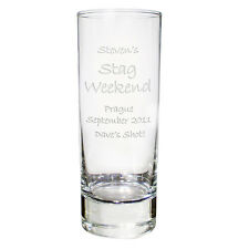 Personalised Shot Glass 18th 21st Stag Do Hen Birthday Engraved Glasses Gift UK