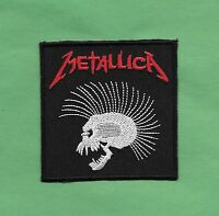 """New Metallica ' Skull ' 3 X 3 """" Inch Iron on Patch Free Shipping"""