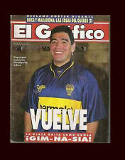 DIEGO MARADONA Returns to Boca Juniors Magazine 1995