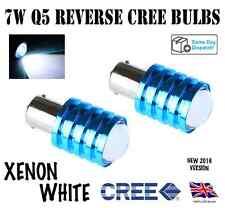 2x Q5 REVERSE CREE BULBS SUPER XENON WHITE  CREE P21W 1156 BA15S 382 REVERSE LED