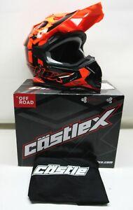 Castle X Youth Flo Orange Mode MX Helmet - 35-2868 SIZE LARGE