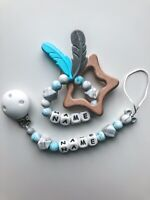 👶🏼 Personalised Baby Gift Set Baby Girl & Baby Boy Silicone Teether Dummy Clip