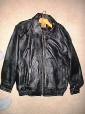 Men's Leather Patch Leather Jacket New Rare size S