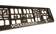Black 3D VW VOLKSWAGEN European Euro License Number Plate Holder Frame German