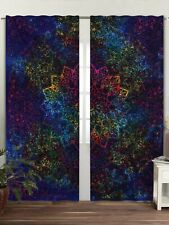 Multi Tie Dye Mandala Bedroom Window Curtains Drape Balcony Room Decor Curtains