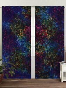 Multi Tie Dye Mandala Bedroom Window Curtains Drape Balcony Room Decor Curtains