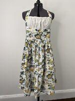 Revival Halter Neck Hawaiian Girl Retro Cotton Dress Size 10 EUC