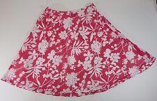Skirt Preston & York Knee Length Ivory /Eden Casual Flowers Zipper