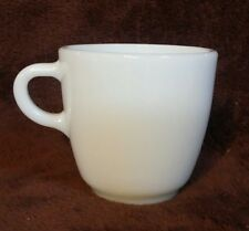 FIRE KING 350 by Anchor Hocking 9 oz MILK GLASS MUG White Coffee Cup HEAVY MINTY