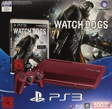 Sony Playstation 3 PS3 Konsole rot 500GB Dualshock 3 Watchdogs Bundle Neu/OVP